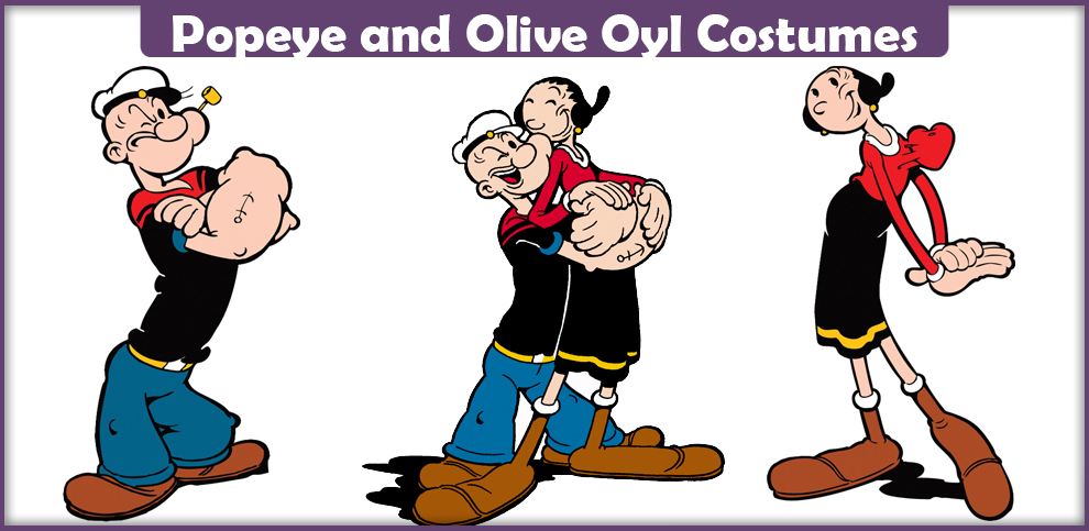 Popeye and olive oyl costume diy diy do it your self popeye and olive oyl costume diy project solutioingenieria Image collections